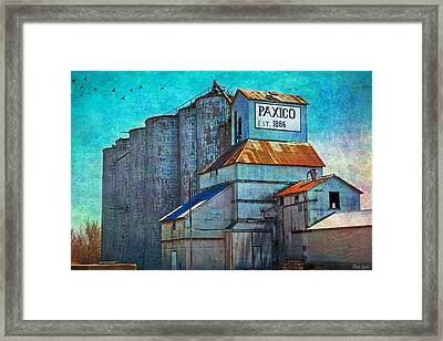 Old Paxico Kansas Grain Elevator Framed Print