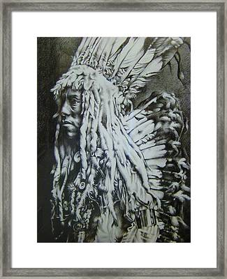 Old Person Framed Print by Michael Lee Summers