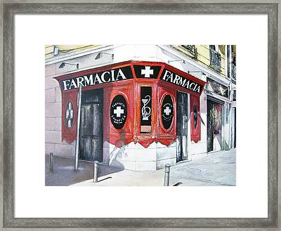 Old Pharmacy Framed Print by Tomas Castano
