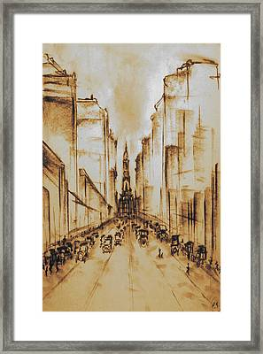 Old Philadelphia City Hall 1920 Framed Print