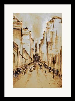 Phillies Drawings Framed Prints
