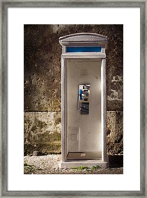 Old Phonebooth Framed Print by Carlos Caetano