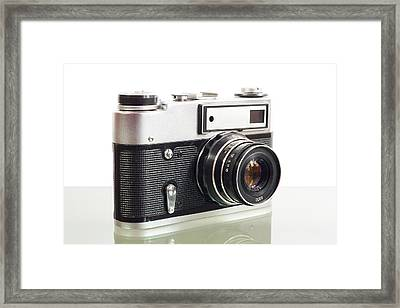 Old Photo Camera Framed Print by Boyan Dimitrov