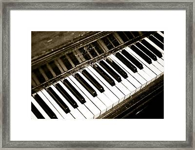Old Piano Framed Print