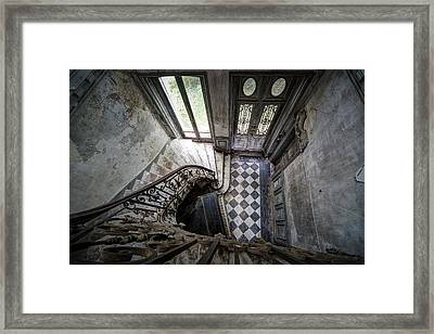 Old Piano In Deserted Castle - Architectual Heritage Framed Print