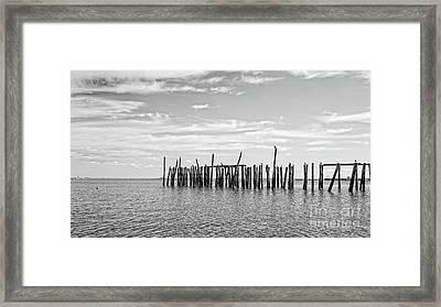 Old Pier Provincetown Harbor Cape Cod Framed Print by Edward Fielding