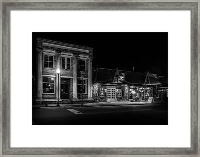 Old Pillar Building Framed Print