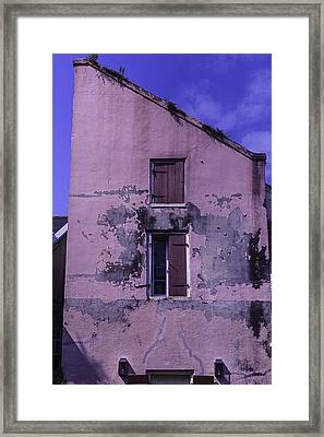Old Pink Building Framed Print by Garry Gay
