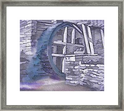Old Pioneer Mill - Water Wheel Framed Print by Steve Ohlsen