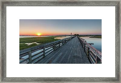 Old Pitt Street Bridge  Framed Print