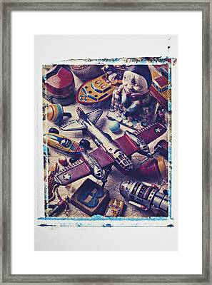 Old Plane And Other Toys Framed Print by Garry Gay