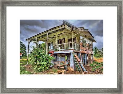 Old Plantation House Framed Print by Nadia Sanowar