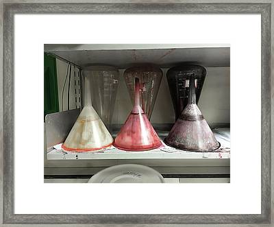Old Plastic Funnels Framed Print by Tom Gowanlock