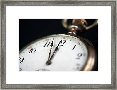 Old Pocketwatch Framed Print