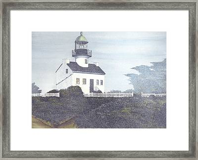 Old Point Loma Lighthouse Framed Print by James Lyman