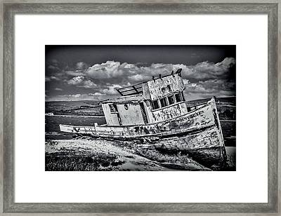 Old Point Reyes Black And White Framed Print by Garry Gay