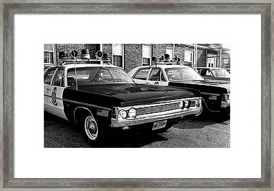 Old Police Car Framed Print