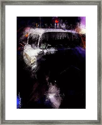 Old Police Cruiser Framed Print by James Metcalf