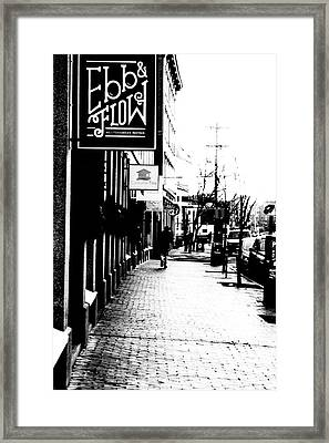 Old Port Black And White Framed Print by Victory  Designs