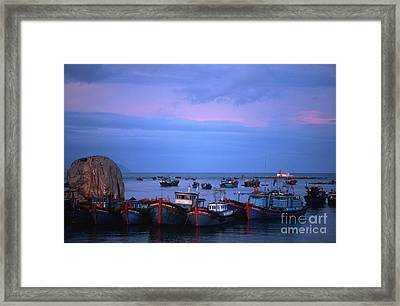 Old Port Of Nha Trang In Vietnam Framed Print