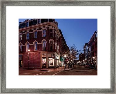 Old Port, Portland Maine Framed Print