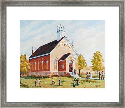 Old Porterville Church Summer Framed Print by JoAnne Corpany