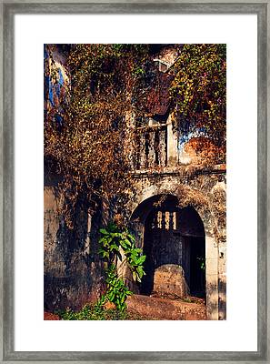 Old Portuguese House. Goa. India Framed Print by Jenny Rainbow
