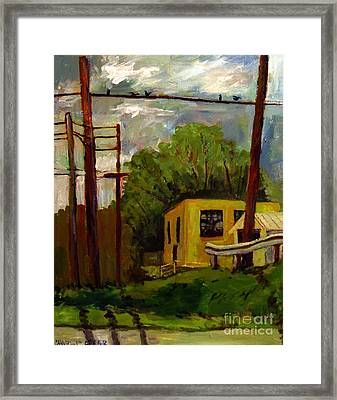 Old Power Plant Hangout Framed Print