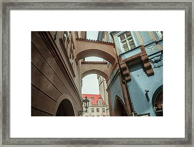 Framed Print featuring the photograph Old Prague Architecture 1 by Jenny Rainbow