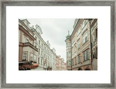 Old Prague Buildings. Staromestska Square Framed Print by Jenny Rainbow