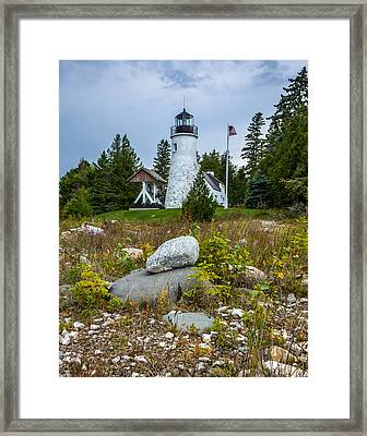 Old Presque Isle Lighthouse Framed Print