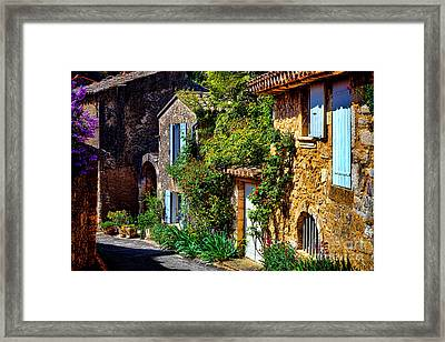Old Provencal Village Street Framed Print
