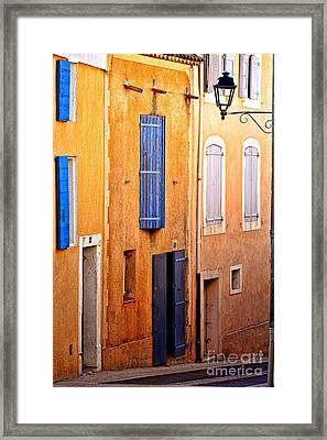 Framed Print featuring the photograph Old Provence Village Street by Olivier Le Queinec