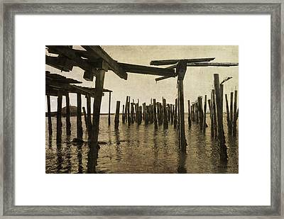 Old Provincetown Wharf Framed Print by Dave Gordon