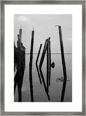 Old Provincetown Wharf II Bw Framed Print by David Gordon