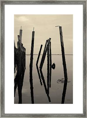 Old Provincetown Wharf II Toned Framed Print by David Gordon