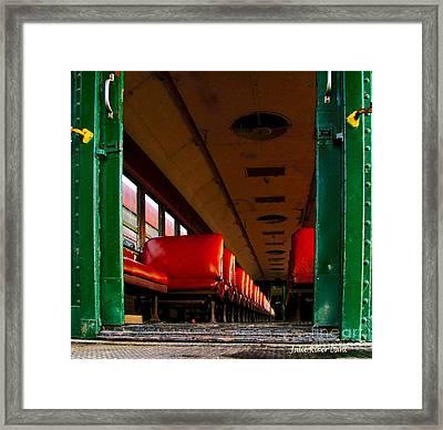 Old Pullman Framed Print by Julie Dant