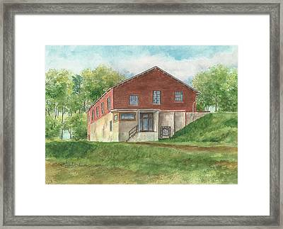 Old Pump House At The Mill Framed Print