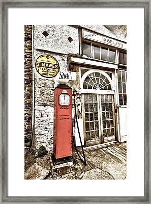 Old Pump St Mawes Framed Print