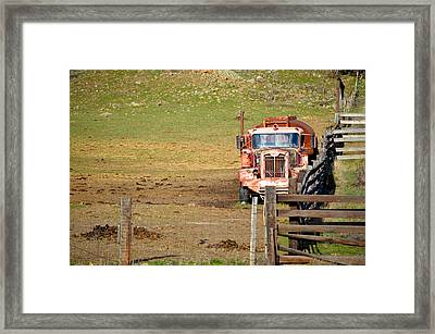 Old Pump Truck Framed Print
