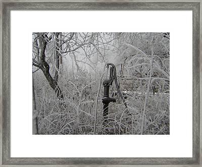 Old Pumpjack Framed Print by Deena Keller