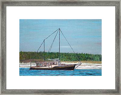 Old Pung In Maine Framed Print by Laurence Dahlmer