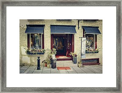 Old Quebec Art Gallery  Framed Print by Maria Angelica Maira
