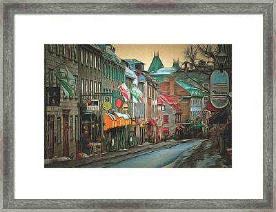 Old Quebec City Framed Print by Anthony Caruso