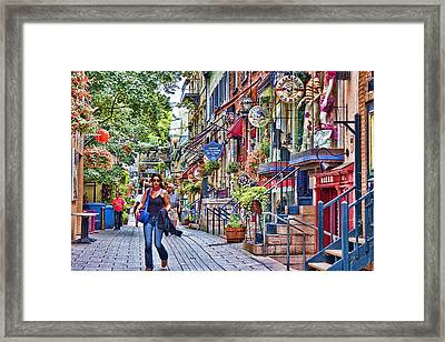 Old Quebec City Framed Print by David Smith