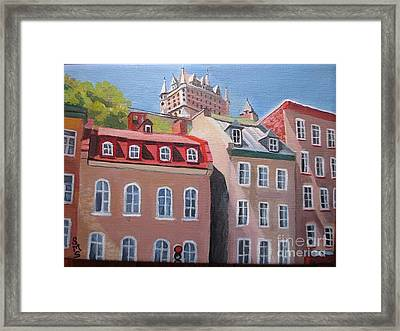 Old Quebec City Framed Print by Stella Sherman