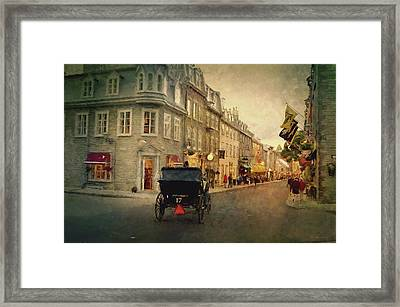 Old Quebec Framed Print by Maria Angelica Maira