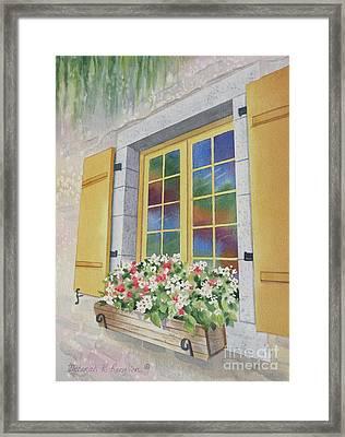 Old Quebec Window Framed Print by Deborah Ronglien
