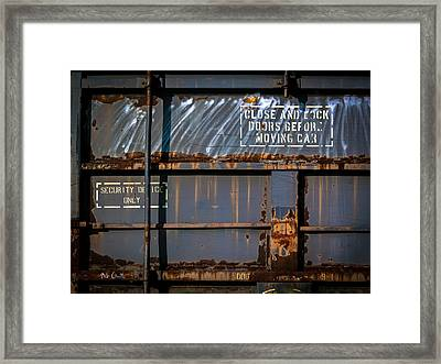 Old Railroad Boxcar  Framed Print by Bob Orsillo