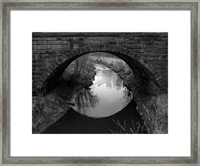 Old Railroad Bridge Framed Print by Michael L Kimble